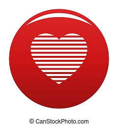 Warm heart icon red - Warm heart icon. Simple illustration...