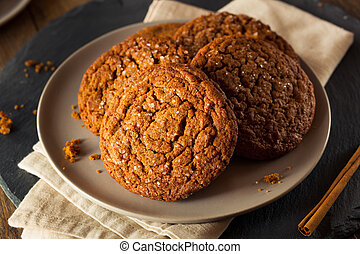 Warm Homemade Gingersnap Cookies