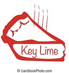 Warm Key Lime Pie