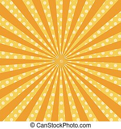 Warm orange pop art retro comic background vector
