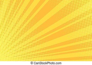 Warm orange pop art retro comic background vector ...