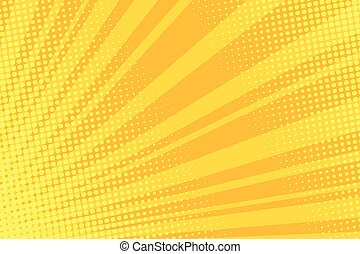 Warm orange pop art retro comic background