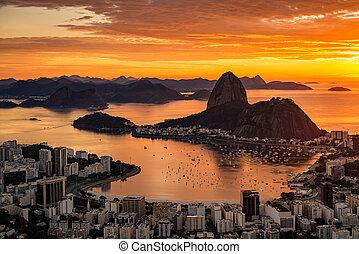 Warm Rio de Janeiro Sunrise