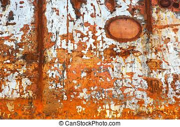 Warm rusty background.