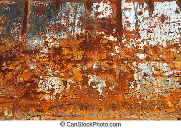 Warm rusty background.