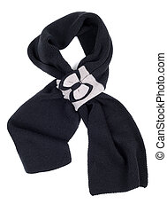 Warm scarf in black