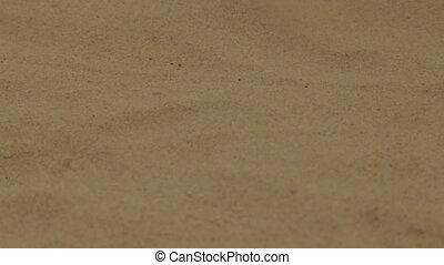 Warm sea sand on the beach