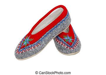 Warm slippers used by Polish highlanders - Polish...
