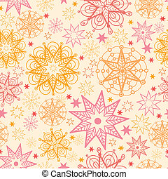 Warm stars seamless pattern background - Vector warm stars...