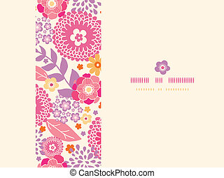 Warm summer plants frame horizontal seamless pattern...