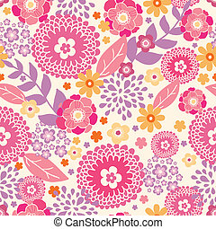 Warm summer plants seamless pattern background - Vector warm...
