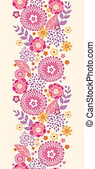 Warm summer plants vertical seamless pattern background -...