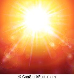 Warm Summer Sunshine - Abstract background with warm orange ...