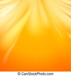 Warm sun light, abstract bacground.  illustration