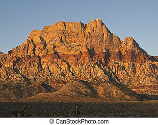 Warm Sunrise at Red Rock Nevada