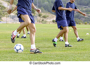 warm up for a soccer training