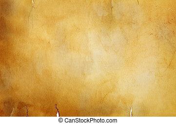 warm vintage background - great old grunge paper texture(...