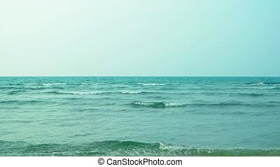 Warm Water of a Tropical Sea under an Overcast Sky