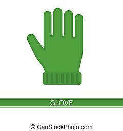 Warm Winter Glove Isolated