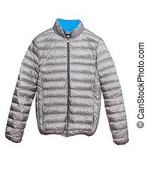 Warm winter jacket isolated on white background
