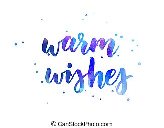 Warm wishes holiday calligraphy