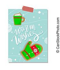 Warm Wishes Merry Christmas Winter Holiday Poster