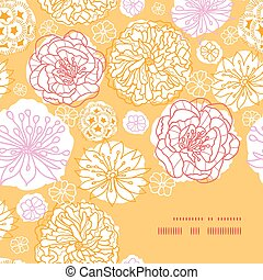 warme, model, frame, vector, achtergrond, hoek, bloemen, dag