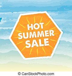 warme, zomer, verkoop, vector