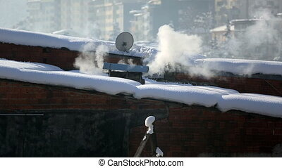 air pollution - warming and air pollution at winter
