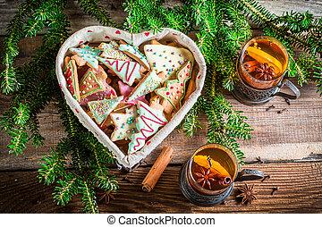Warming Christmas tea for two