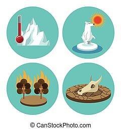 warming, global, diseño