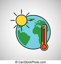 warming global environment concept icon
