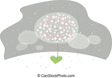 warms, őt elhoz, csinál, eredet, középső, virág, tél, gyógyulás, szeret, élet, csoda