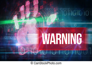 Warning against blue technology design with binary code