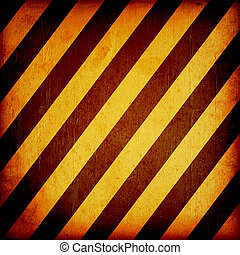 Warning Background Texture With Common Black and Yellow...