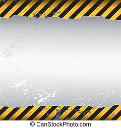 warning themed torn wallpaper