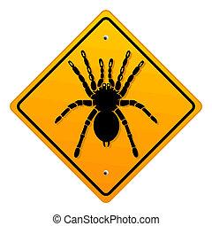 warning bird spider