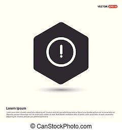 Warning caution sign icon