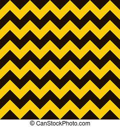 Warning chevron - Yellow and black warning seamless tile...