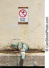 Warning contaminated drinking water