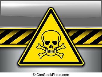Warning, danger background