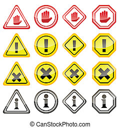 Warning Danger Icons
