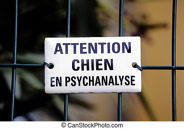 Warning! dog in psychoanalysis