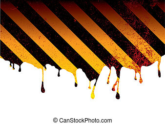 warning dribble blood - oil spill or slick background with...