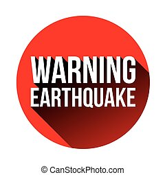 Warning earthquake sign red vector