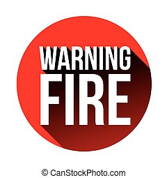 Warning Fire sign red vector