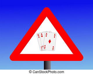 warning gambling sign