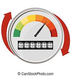 Warning Gauge - An image of a warning gauge.