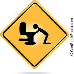 Warning, hangover sign - Vector illustration of a warning ...