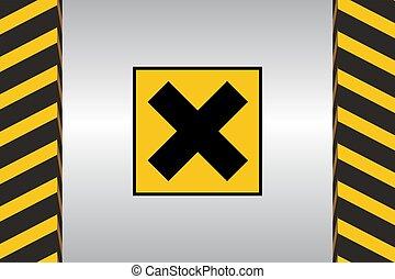 Warning Hazard Signs - Warning sign of Harmful danger and...